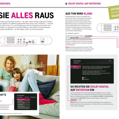 Entertain by Deutsche Telekom: Advertisment in TV-Magazine